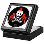 Skull with Devils Keepsake Box