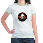 Skull with Devils Jr. Ringer T-Shirt