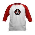 Skull with Devils Kids Baseball Jersey