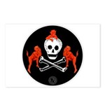 Skull with Devils Postcards (Package of 8)