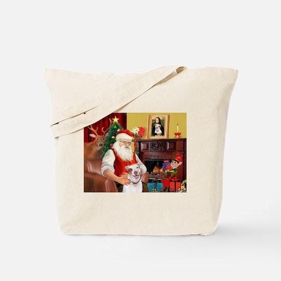 Santa's Pit Bull Tote Bag