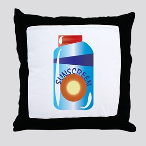 Sunscreen Throw Pillow