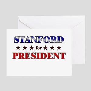 STANFORD for president Greeting Card