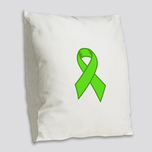 Lymphoma Ribbon Burlap Throw Pillow
