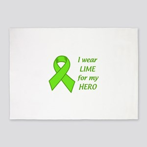 Wear Lime For My Hero 5'x7'Area Rug