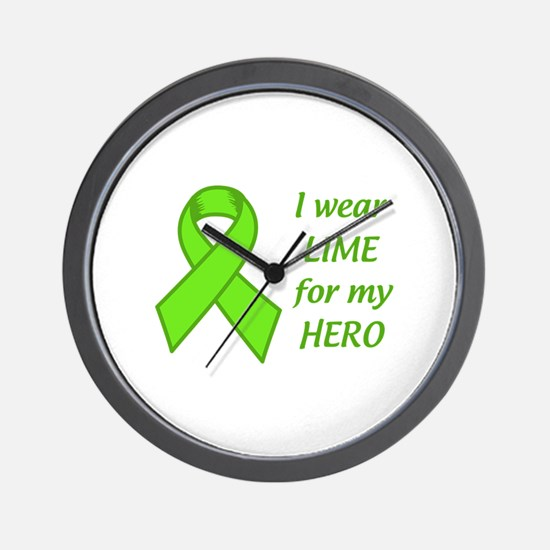 Wear Lime For My Hero Wall Clock