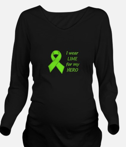 Wear Lime For My Hero Long Sleeve Maternity T-Shir
