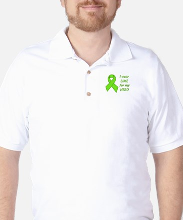 Wear Lime For My Hero Golf Shirt