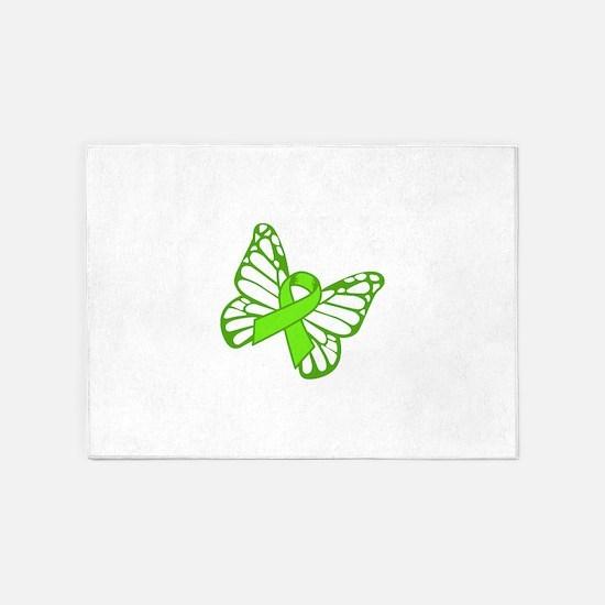 Lymphoma Butterfly 5'x7'Area Rug