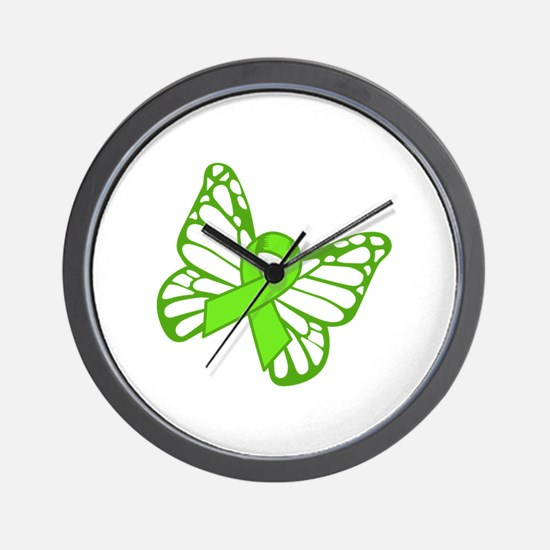 Lymphoma Butterfly Wall Clock