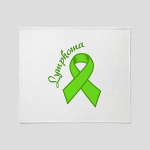 Lymphoma Awareness Throw Blanket