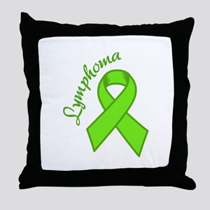 Lymphoma Awareness Throw Pillow