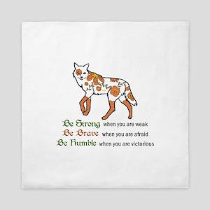 Be Strong Wolf Queen Duvet