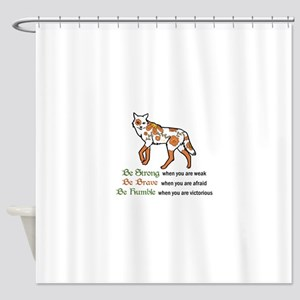 Be Strong Wolf Shower Curtain