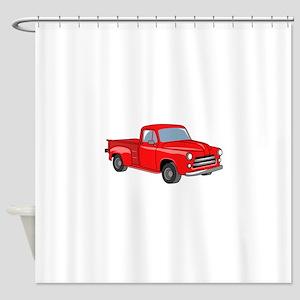 Classic Pickup Truck Shower Curtain