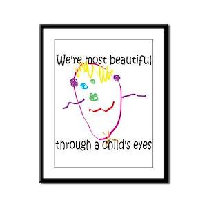 Through a Child's Eyes Framed Panel Print