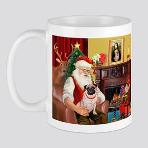 Santa's fawn Pug (#21) Mug