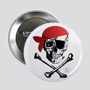"Pirate Skull & Crossbones 2.25"" Button (10 pack)"
