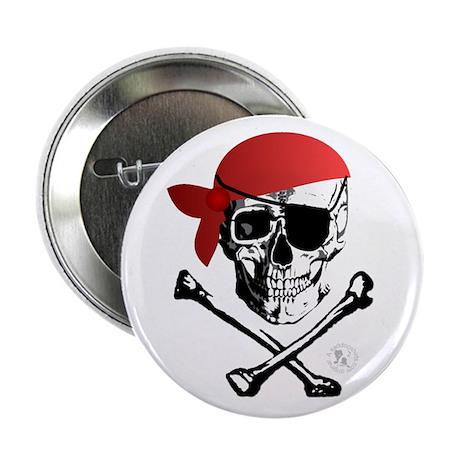 "Pirate Skull & Crossbones 2.25"" Button (10 pack)"