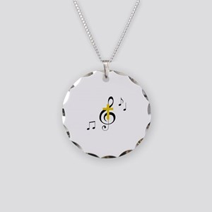 Treble Clef And Cross Necklace