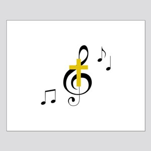 Treble Clef And Cross Posters