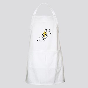 Treble Clef And Cross Apron