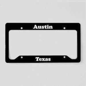 Austin Texas License Plate Holder