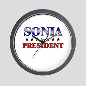SONIA for president Wall Clock