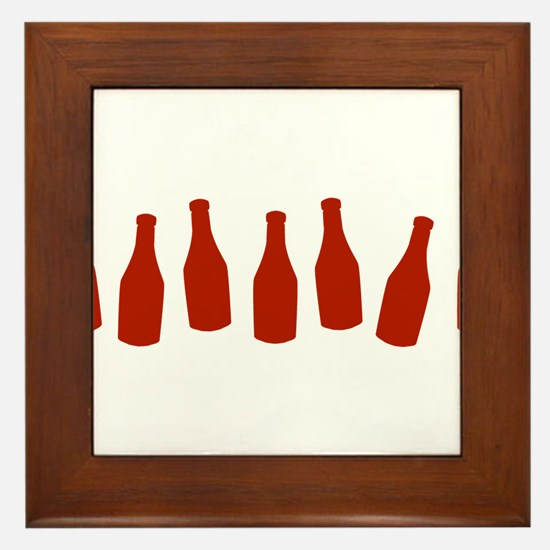Bottles of Ketchup Framed Tile