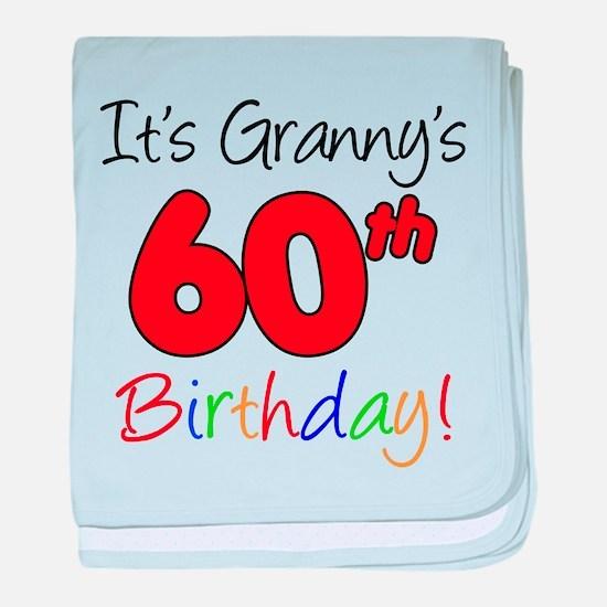 It's Granny 60th Birthday baby blanket