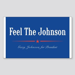 Feel the Johnson Campaign Sign Sticker