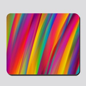 Abstract Colorful Decorative Wavy Patter Mousepad