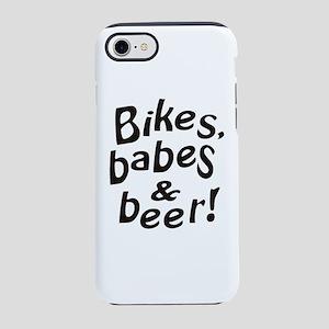 bikes babes beer iPhone 8/7 Tough Case