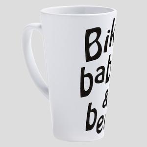 bikes babes beer 17 oz Latte Mug