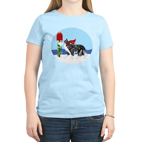 Border Collie Mail Women's Light T-Shirt