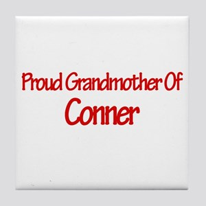 Proud Grandmother of Conner Tile Coaster