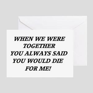 Break Up... Greeting Card