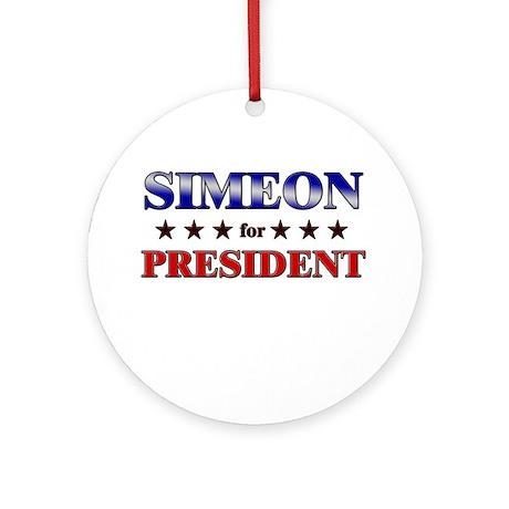 SIMEON for president Ornament (Round)