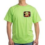 Poison Skull & Flames Green T-Shirt