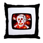 Poison Skull & Flames Throw Pillow