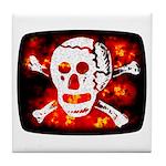 Poison Skull & Flames Tile Coaster