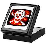 Poison Skull & Flames Keepsake Box