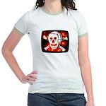 Poison Skull & Flames Jr. Ringer T-Shirt
