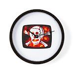 Poison Skull & Flames Wall Clock