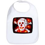 Poison Skull & Flames Bib