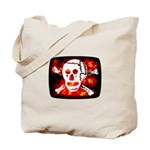 Poison Skull & Flames Tote Bag