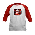 Poison Skull & Flames Kids Baseball Jersey