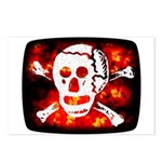 Poison Skull & Flames Postcards (Package of 8)