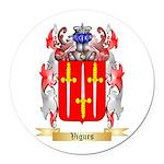 Vigurs Round Car Magnet