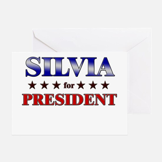 SILVIA for president Greeting Card
